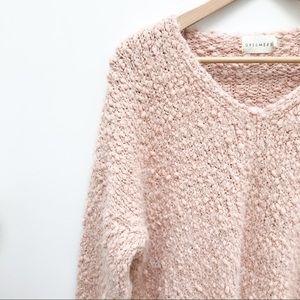 Dreamers Oversized Fuzzy Sweater V Neck Size M/L